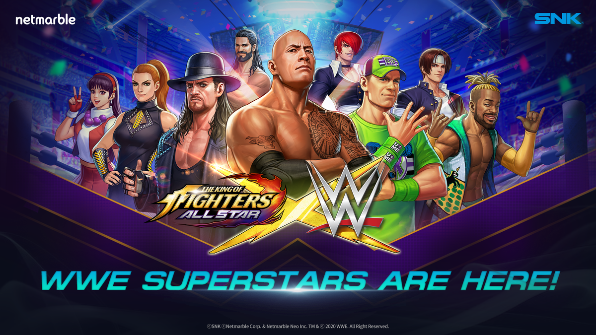 Wwe Superstars Join The King Of Fighters Allstar Mobile Game Wwe